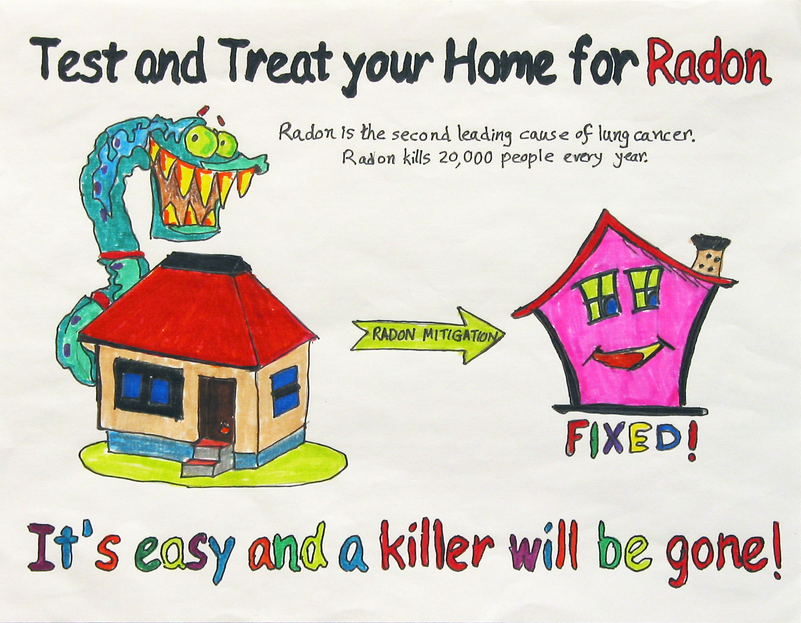 how to fix radon problem